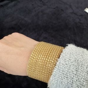 NWT Express statement gold tone cuff bracelet